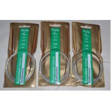 HOBBY & PRO, Bamboo circular stainless knitting needles 100cm