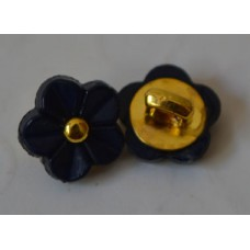 11 mm Flower buttons  (navy  blue colour )