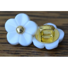11 mm Flower buttons ( white )